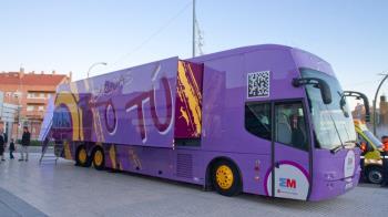 El autobús de prevención de drogodependencia estará ubicado por diferentes calles de Boadilla del Monte