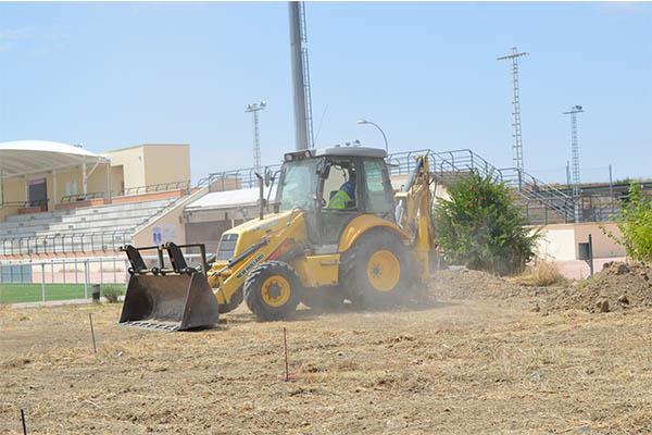 Comienzan las obras de la pista de atletismo del complejo deportivo Vicente Temprado