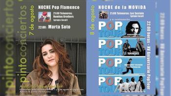 Este mes de agosto Pinto sigue siendo referente musical con sus nueva agenda de conciertos para este fin de semana