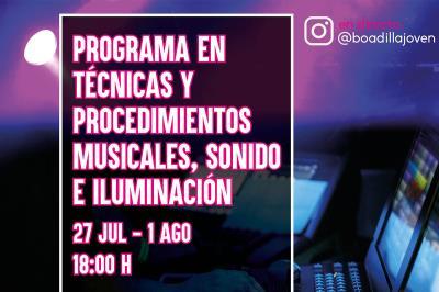 Lee toda la noticia 'Ciclo de conferencias online sobre producción musical, sonido e iluminación'