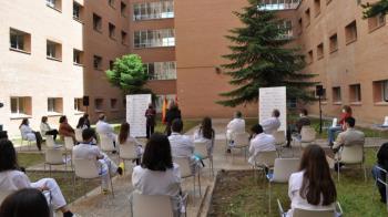 El evento fue presentado por la Jefa de Estudios de Docencia del Hospital, la Dra. Susana Medina