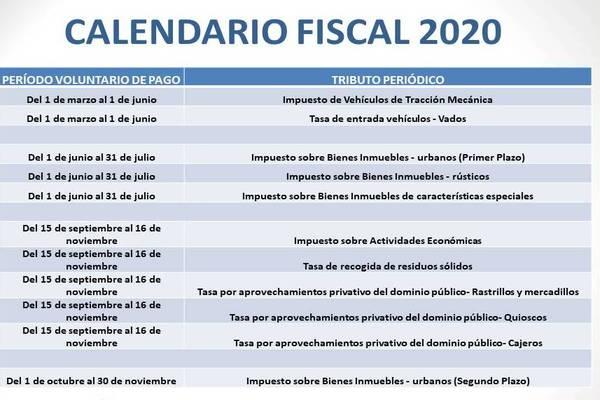 Así ha quedado el calendario tras la aplicación de las medidas fiscales
