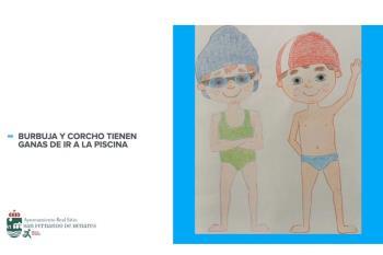 Estas ilustraciones las han elaborado Naiara, Carmen y Pedro, alumnas y alumno de los cursos de natación.