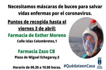Las máscaras se recogerán durante esta semana en dos farmacias del municipio