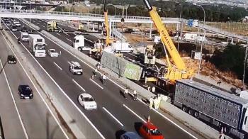 Según informa la DGT, el accidente está provocando hasta 13 kilómetros de retenciones
