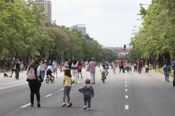 Peatonalización de Madrid para facilitar la distancia social y evitar contagios