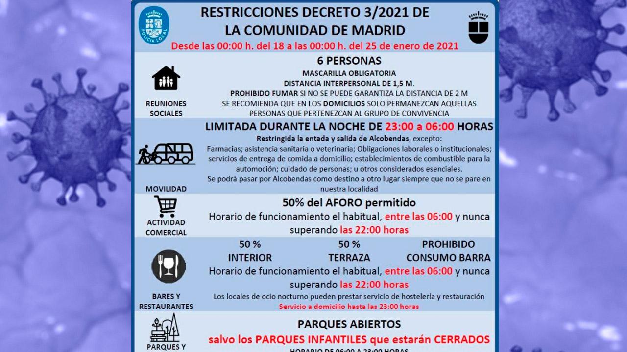 Se amplía las restricciones de entrada y salida en todo el municipio de Alcobendas y en el de San Sebastián de los Reyes