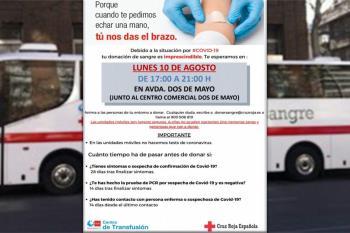 El Centro de Transfusiones tiene niveles de reserva de sangre preocupantes