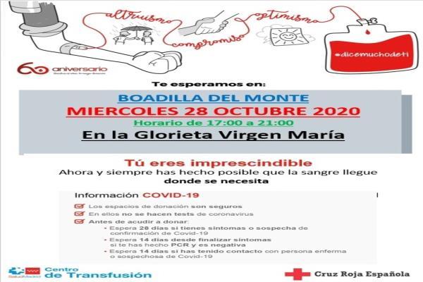 Cruz Roja te espera para la donación de sangre en Boadilla del Monte