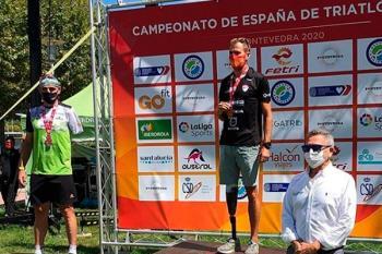 El triatleta del Club de Triatlón Ondarreta Alcorcón se llevó el oro en Pontevedra