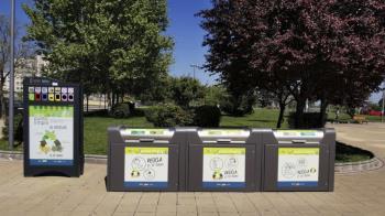 Para el deposito de residuos peligrosos, de aparatos eléctricos y electrónicos, menaje de cocina o mascarillas