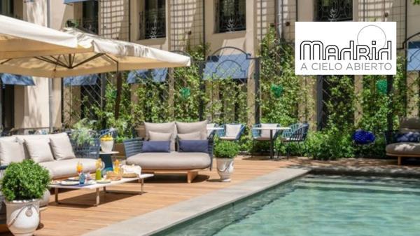 Disfruta de los jardines, terrazas, piscinas y azoteas de los hoteles de Madrid