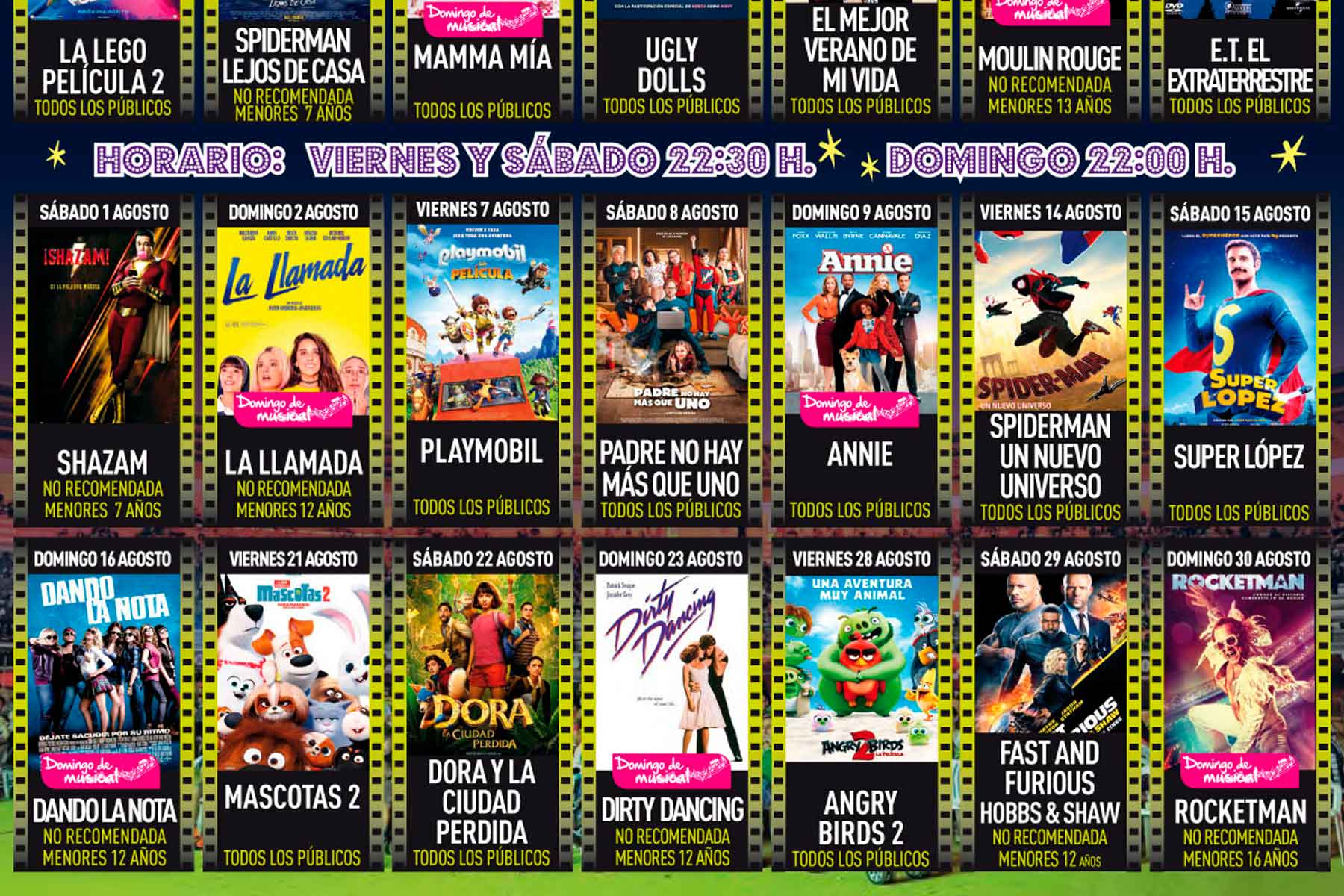 Los fines de semana de agosto, en la Plaza de Toros, con grandes títulos