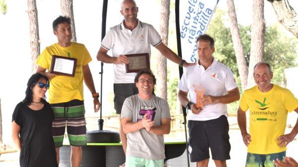 Luis Vierna y Fernando Calvo, tercero y quinto respectivamente en el el campeonato de vela