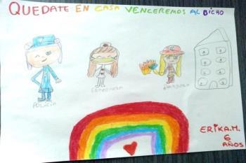 Niños y niñas de Moraleja de Enmedio han enviado sus propuestas artísticas con motivo de esta iniciativa