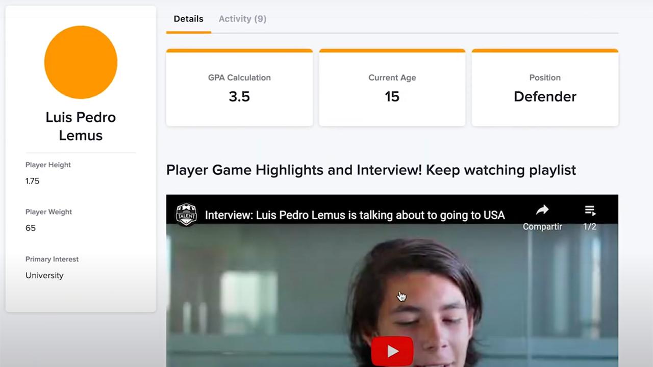 Hará castings online para becar con 24.000 euros a futbolistas con la ayuda de la Inteligencia Artificial