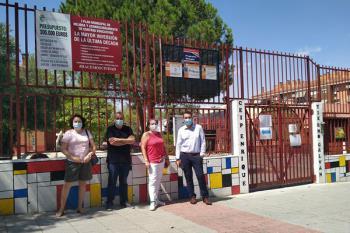 Javier Corpa ha comprobado cómo avanzan las obras en los centros educativos