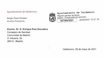Tras remitir una carta al Consejero de Sanidad de la Comunidad de Madrid