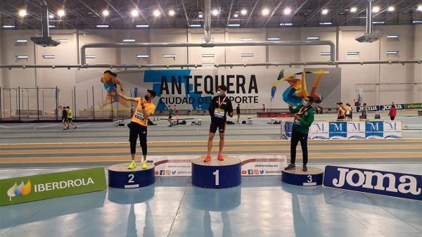 El atleta alcalaíno Gerson Pozo, campeón de España sub-20 en 400 metros lisos