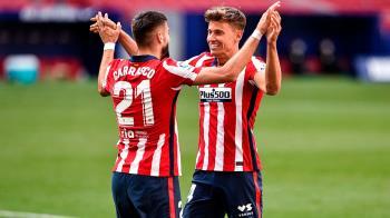 Correa y Llorente, con un doblete cada uno, Carrasco con un gol, consiguen los tres puntos imprescindibles