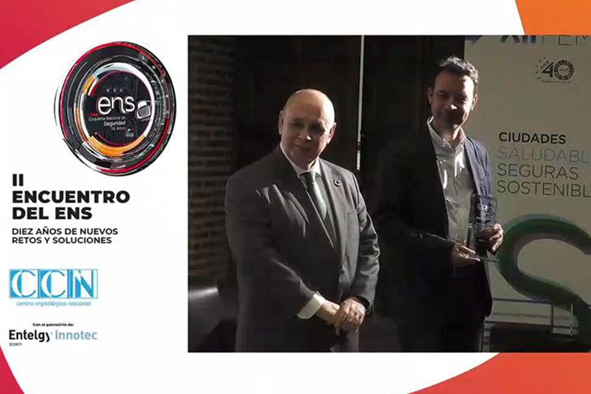 El Centro Criptológico Nacional ha otorgado este premio en reconocimiento a la mejora en ciberseguridad de los servicios digitales