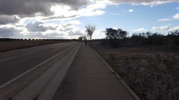 Esta vía pecuaria lleva cerrada al tráfico rodado desde la borrasca Filomena