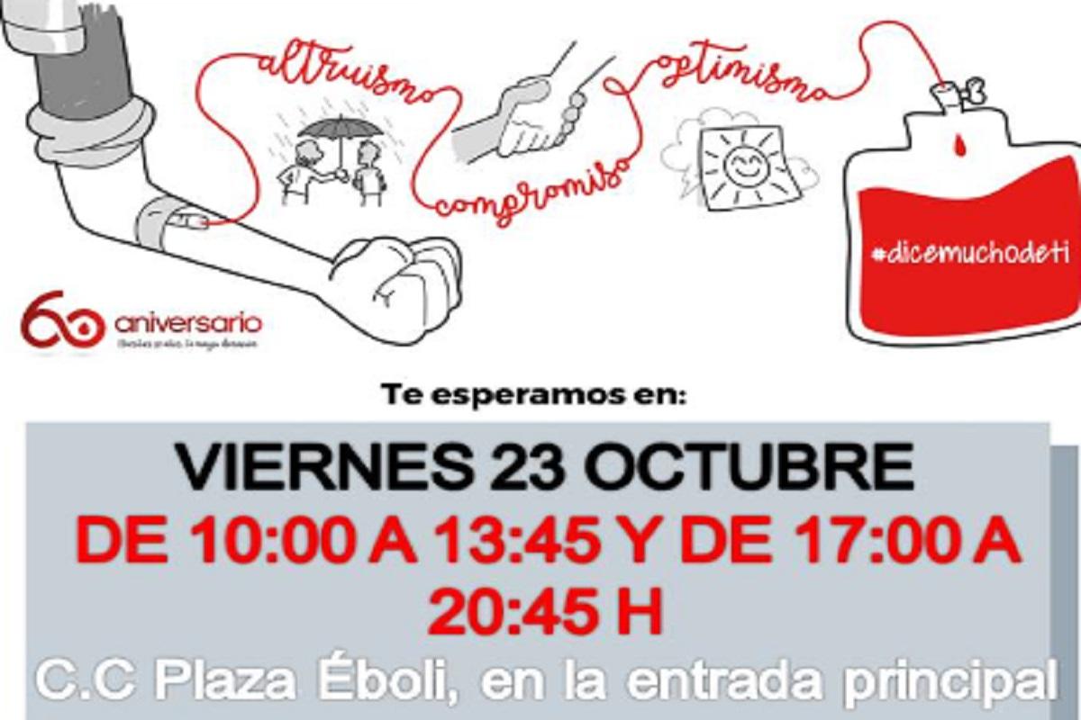 La campaña se realizará en el Centro Comercial Eboli desde las 10:00 horas hasta las 13:45