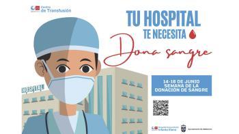 """Se suma a la campaña """"Semana de la donación de sangre Tu hospital te necesita"""""""