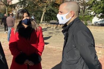 Ustarroz recalcó el objetivo de accesibilidad universal durante su visita a la nueva entrada al Parque de Colón