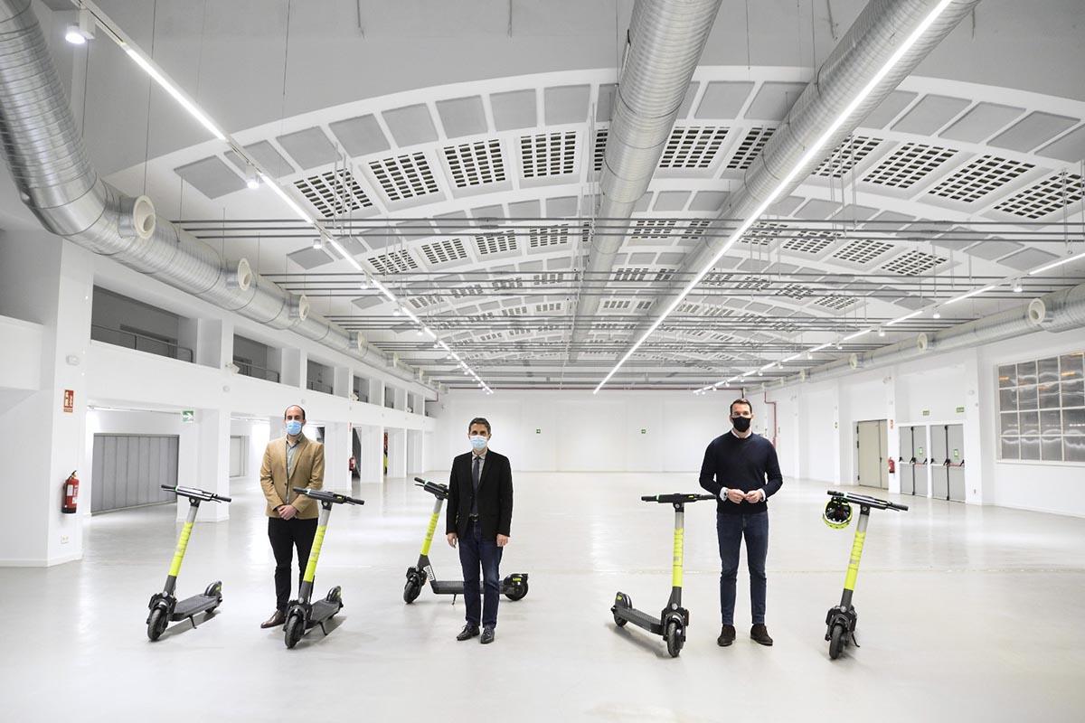 En el acto realizado en la antigua fábrica de la Gal se hizo un balance de los primeros meses de los proyectos de micromovilidad
