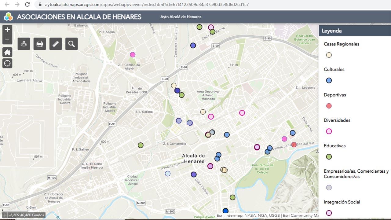 Ya está en la web municipal el mapa de información geográfica en el que se recogen y clasifican las diferentes agrupaciones