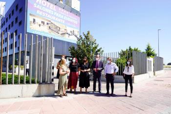 Uno de los 21 hoteles de la Comunidad de Madrid que se convirtió en hogar para el personal sanitario de varios hospitales de la zona