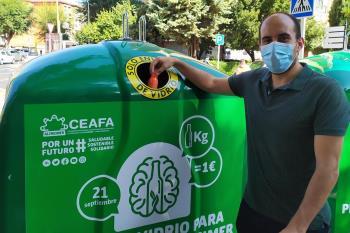 Cada kilo de envases de vidrio reciclado se convertirá en un euro para la Confederación Española de Alzheimer