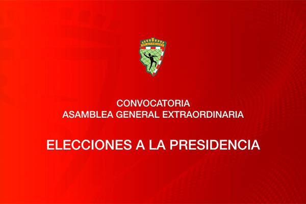 El próximo martes 30 de junio a las 19:30 horas se elegirá al presidente del club