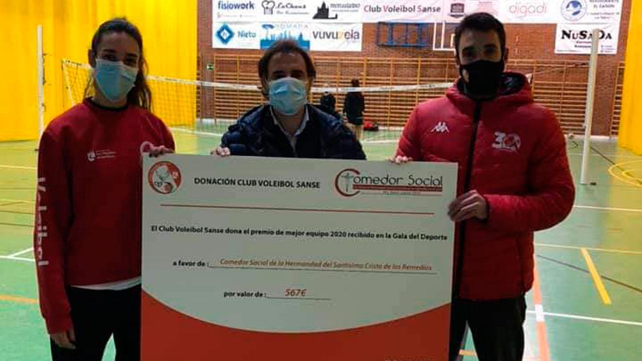 El club sansero ha donado el premio recibido en la Gala del Deporte