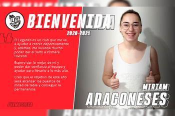 Miriam Aragoneses defenderá la portería del equipo en la próxima temporada