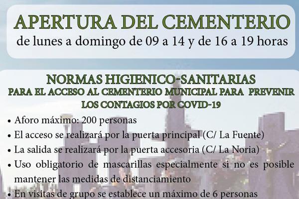 El cementerio de Fuenlabrada vuelve a abrir sus puertas mañana