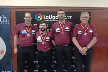 Tras finalizar segundo en el XXXV Campeonato Nacional de Liga de billar a 3 bandas por equipos