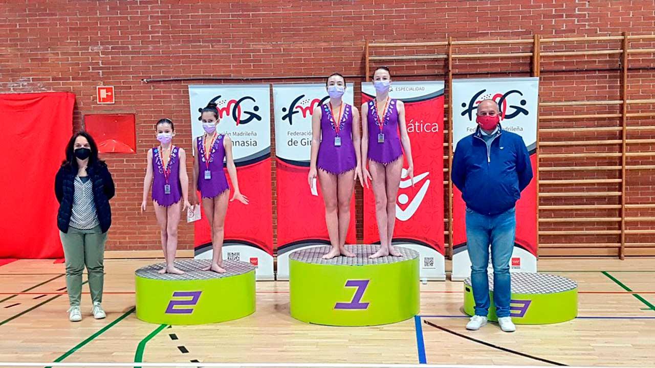 Las gimnastas getafenses estuvieron presentes en la competición de Gimnasia Acrobática