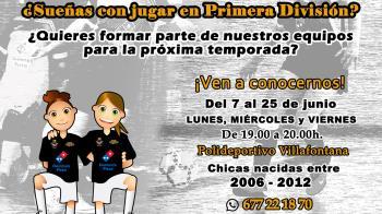 Podrán visitarles los lunes, miércoles y viernes de 19:00 a 20:00 horas en el Polideportivo Villafontana
