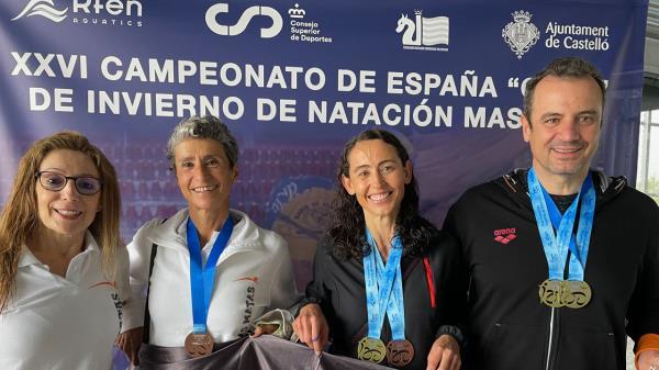 El C.N. Las Matas logra cinco medallas en el Cto. de España Máster de Natación