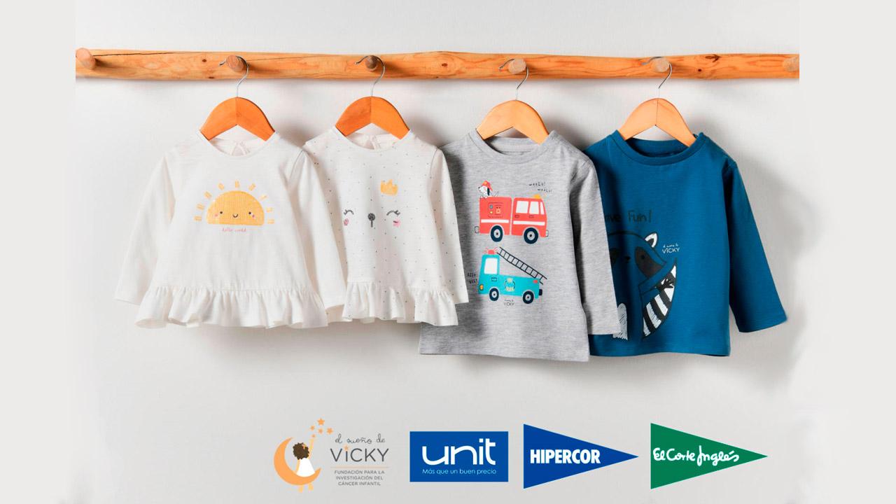 Este importe procede de la venta de camisetas infantiles de la marca Unit, diseñadas especialmente para esta causa