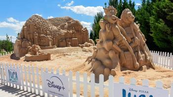 En una escultura gigante de arena que se podrá visitar en Parque Europa hasta el 18 de julio