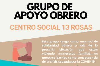 """La recogida y entrega de alimentos se hará en el Centro Social 13 Rosas donde atenderán """"a casi 40 familias y más de 150 personas"""""""