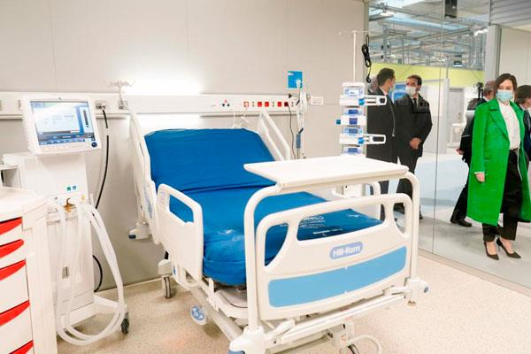 El Hospital Isabel Zendal habilita 384 camas para pacientes Covid