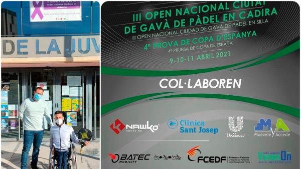 El parleño Víctor Carretón, en el Open Nacional Ciudad de Gavà de Pádel en Silla