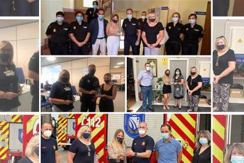 Ha homenajeado a Policía Nacional, Local, Bomberos y Protección Civil con placas de agradecimiento
