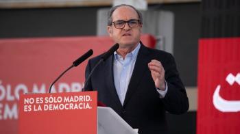 Pedro Sánchez y Ángel Gabilondo han participado en un mitin en Getafe