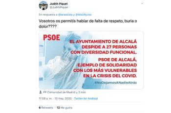 """La portavoz popular publicó en su cuenta de Twitter un """"meme"""" utilizando la creatividad de los socialistas"""