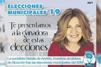 El grupo municipal socialista de Alcorcón obtiene 9 escaños, seguido del PP y Ciudadanos, que le siguen con 6 y 5 concejales, respectivamente